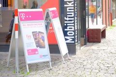 Telekom and Amazon Stock Photo