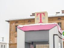 Telekom en hiver Photo stock
