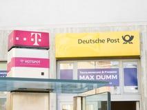 Telekom et Deutsche Post image libre de droits