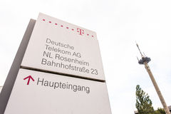 Telekom Rosenheim stockfoto