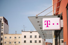 Telekom sign Stock Photography