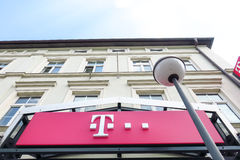 Telekom sign Stock Photo
