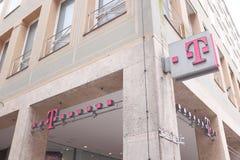 Telekom signs Stock Photos