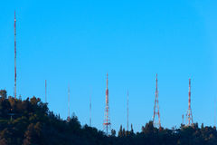 Telekomantenner Arkivfoto
