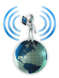 Telekommunikation stock illustrationer