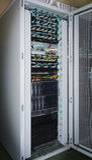 telekommunikation för strömbrytare för router för rj för 45 utrustningEthernetportar Arkivbild