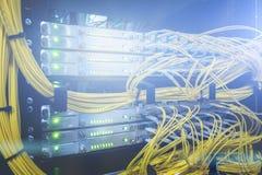 telekommunikation Optische Seilzüge stockfotos