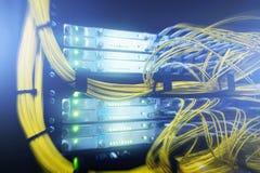 telekommunikation Optische Seilzüge lizenzfreies stockbild