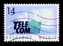 TELEKOMMUNIKATION '91, serie, circa 1991 lizenzfreie stockfotografie