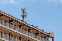 Telekommunikation und Mobilantennen Stockfoto