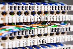 Telekommunikation und Netzwerkausrüstung für Internet und Kommunikation lizenzfreie stockfotos