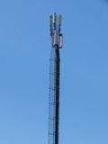 Telekommunikationar står hög. Mobilen ringer baserar posterar. Arkivfoto