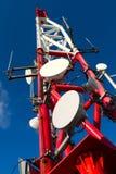 Telekommunikationen står hög Arkivfoto