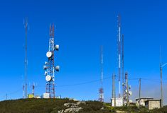 Telekommunikationlättheter arkivbild
