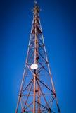 TelekommunikationmastTV Royaltyfria Bilder