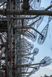 Telekommunikationradiomitt i Pripyat, Tjernobyl arkivfoto