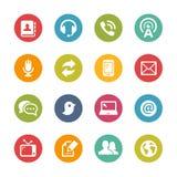 Telekommunikations-Ikonen -- Neue Farb-Reihe Stockfotos