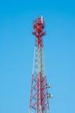 Telekommunikations-Radioantennen-und Satelliten-Turm Lizenzfreies Stockbild