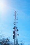 Telekommunikationsantenne Lizenzfreie Stockfotografie