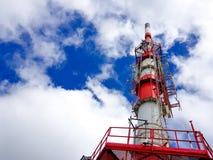 Telekommunikationsantenne auf dem Berg von La Rhune in den atlantischen Pyren?en Grenze zwischen Spanien und Frankreich stockbild