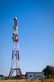 Telekommunikationskontrollturm Stockbilder