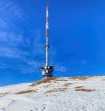 Telekommunikationsturm auf die Oberseite des Bergs Rigi Lizenzfreie Stockfotos