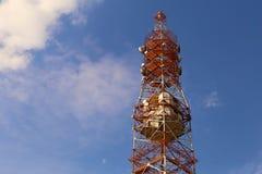 Telekommunikationsturmantenne Stockbild