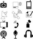 Telekommunikationsymboler vektor illustrationer