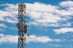 Telekommunikationtorn för Digital signal Arkivfoton