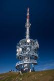 Telekommunikationtorn på överkanten av monteringen Rigi, Schweiz Arkivfoto