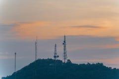 Telekommunikationtornantenn Arkivfoton