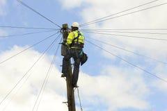 Telekomtekniker Royaltyfri Foto