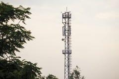 Telekomtorn i landsbygd royaltyfri foto