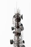 Telekomunikacja, anteny wierza Obraz Royalty Free