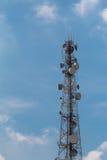 Telekomunikacja, anteny wierza Zdjęcie Royalty Free