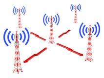 Telekomunikacja góruje Obraz Stock