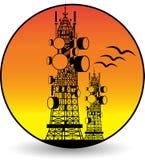 Telekomunikacja góruje logo royalty ilustracja