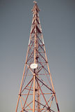 Telekomunikacja masztowy TV Fotografia Stock