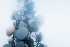 Telekomunikacje górują Fotografia Stock