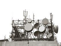 telekomunikacyjne anteny Obrazy Stock