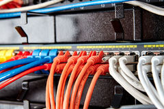 Telekomunikacyjni ethernetów kable zdjęcia royalty free