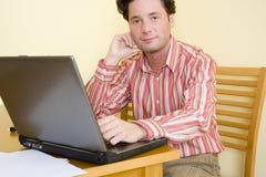 Telelavoro - funzionando a casa immagini stock libere da diritti