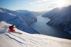 Telemark narciarka Fotografia Royalty Free