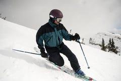 Telemark-Skifahren Stockfotos