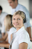 Telemarketer Royalty Free Stock Photo