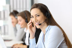 Free Telemarketer Looking At You At Office Royalty Free Stock Image - 97321316