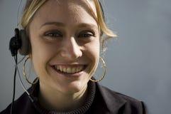 telemarketer uśmiechasz Zdjęcie Stock