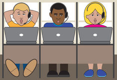 telemarketers Arkivbilder