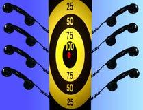 Telemarketers und Ziel Stockfotos
