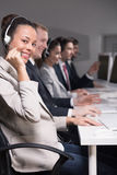 Telemarketers at work Stock Image